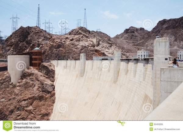 View Hoover Dam Concrete Archgravity Stock - Year of Clean Water