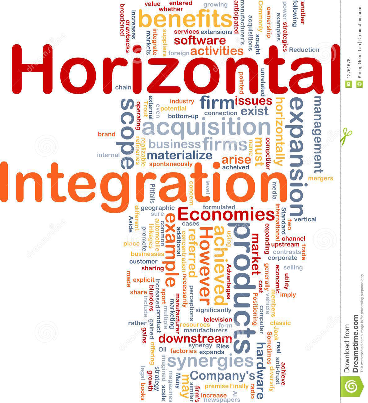 Horizontal Integration Background Concept Stock