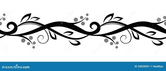 horizontal floral vignette line vector seamless clipart horizontaal naadloos horizontale scenetta floreale nahtlose vine orizzontale cuciture senza met florale couture