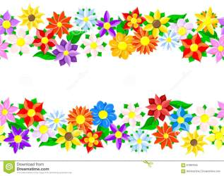 border flower horizontal borders vector seamless colorful daisy illustration floral 3d frame rose decoration preview shutterstock