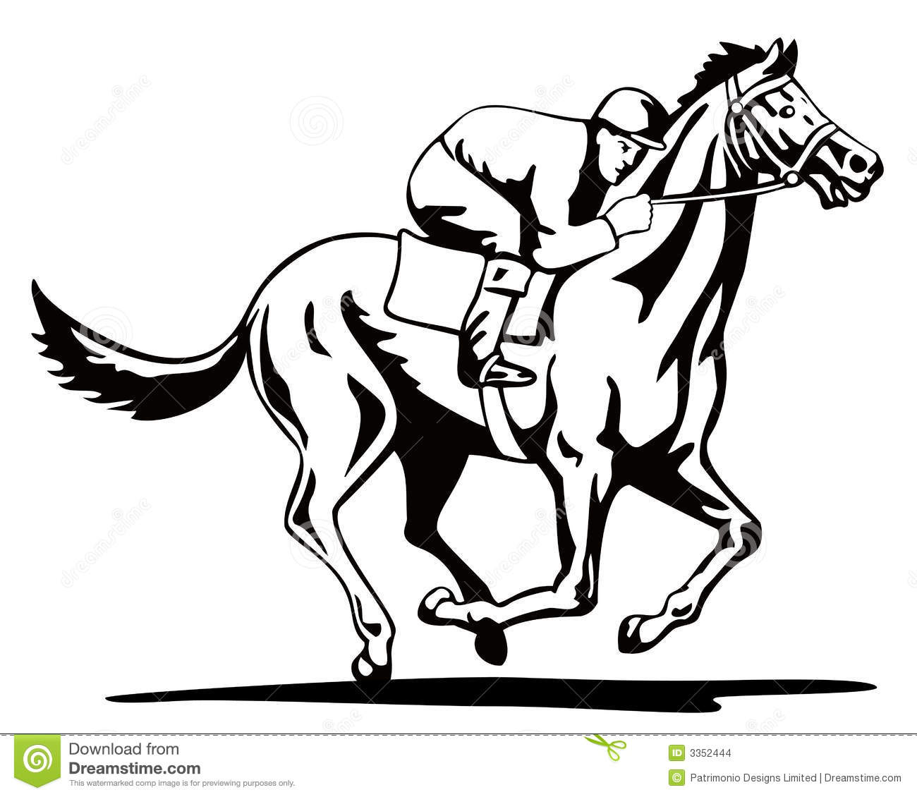 Horse And Jockey On A Winning Stock Images