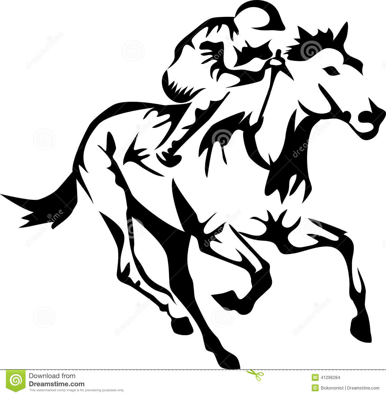 Horse Stock Vector Illustration Of Stylized Speed