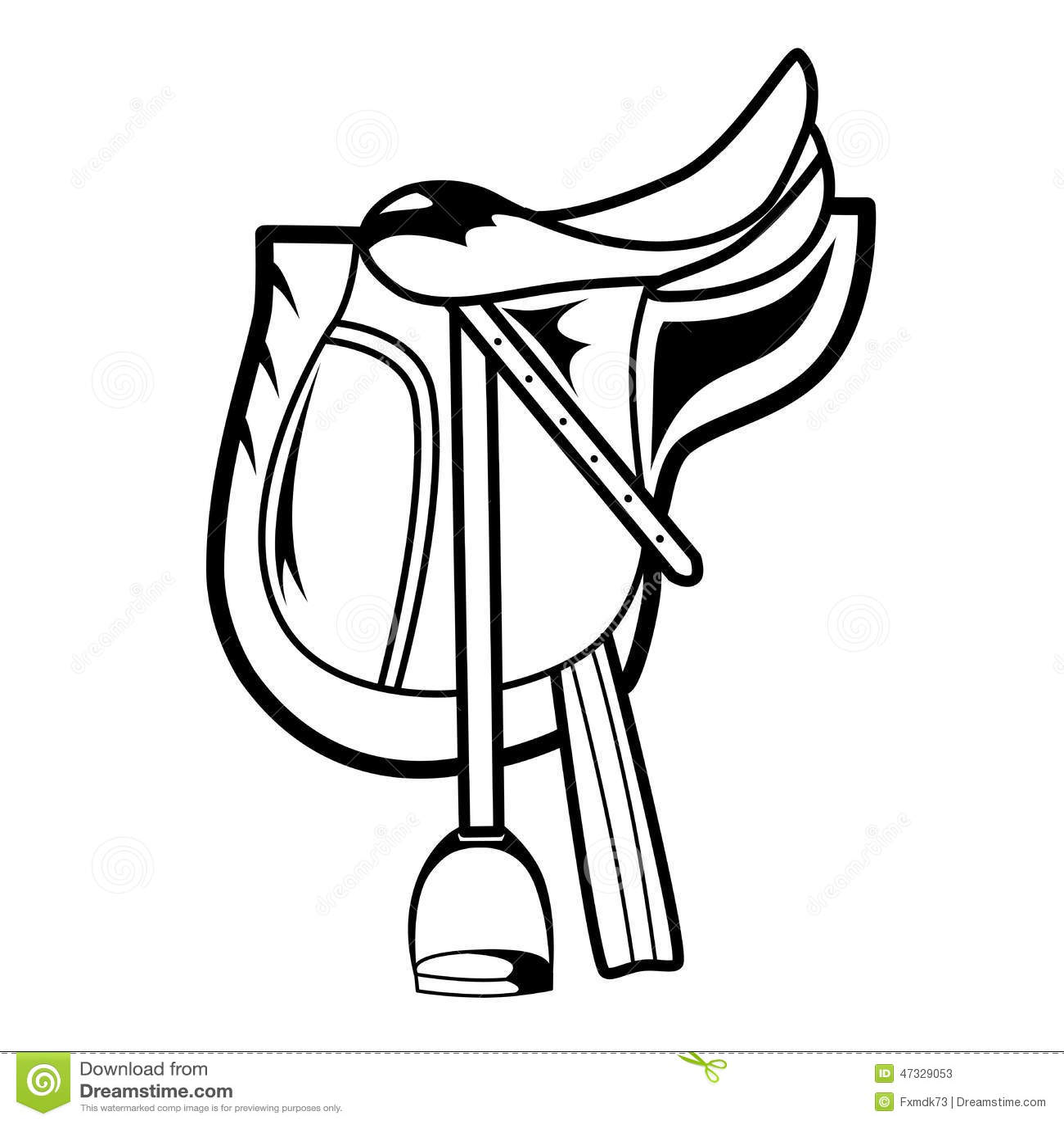 Horse Saddle Stock Vector Illustration Of Dressage