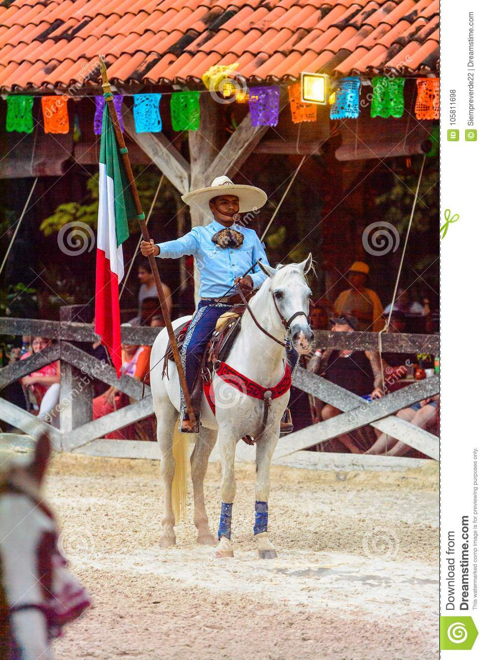 Horse show in Mexico editorial stock photo. Image of jump - 105811698