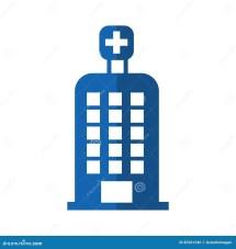 Hospital Building Isolated Icon Cartoon Vector