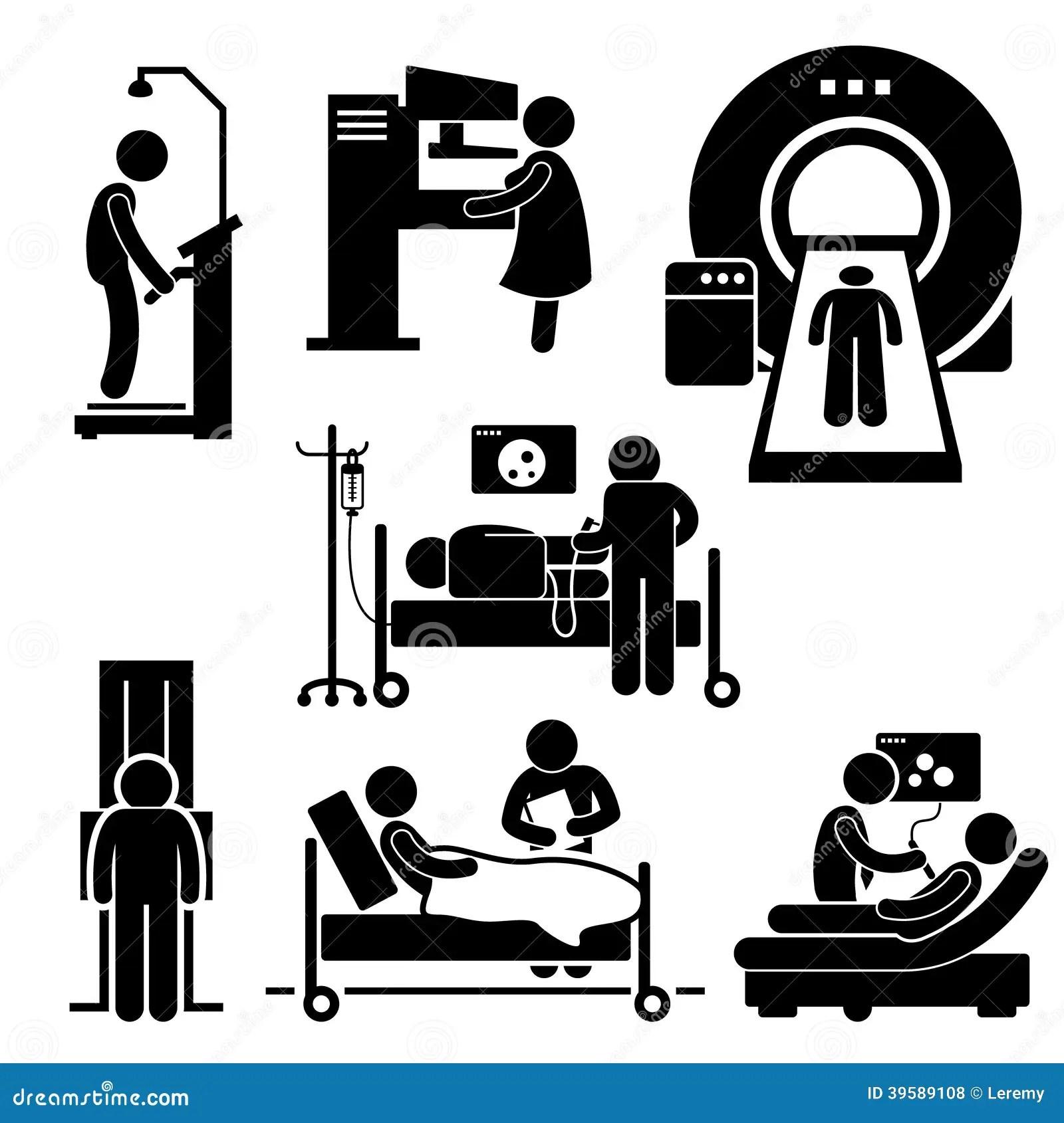 Hospital Medical Checkup Screening Diagnosis Cliparts