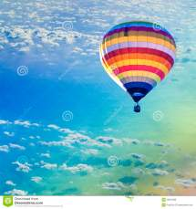 Hot Air Balloon Sea With Cloud Stock - Of