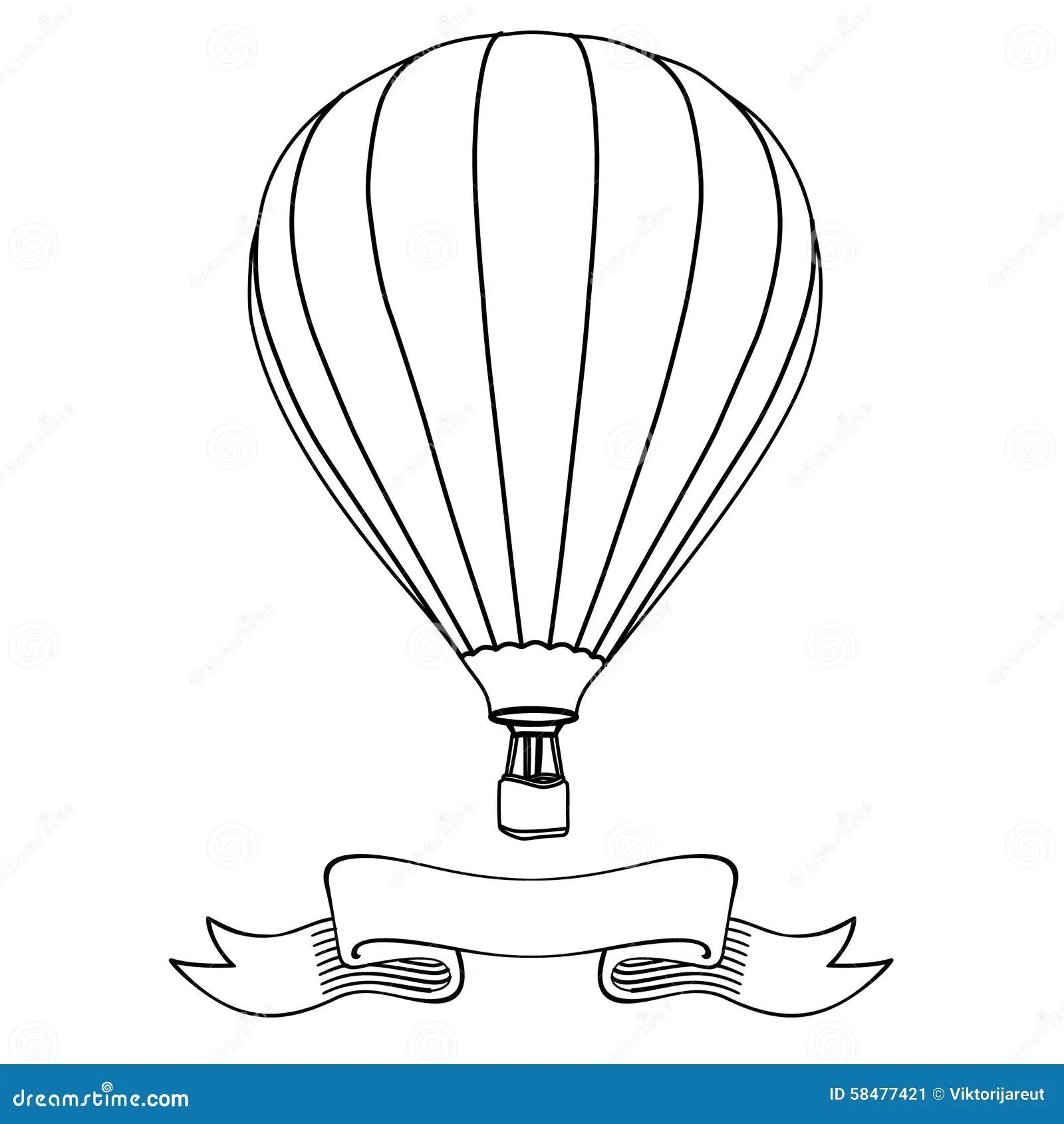 Hot Air Balloon Stock Illustration