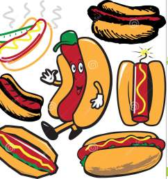clip art collection of hot dog symbols and icons [ 1371 x 1300 Pixel ]