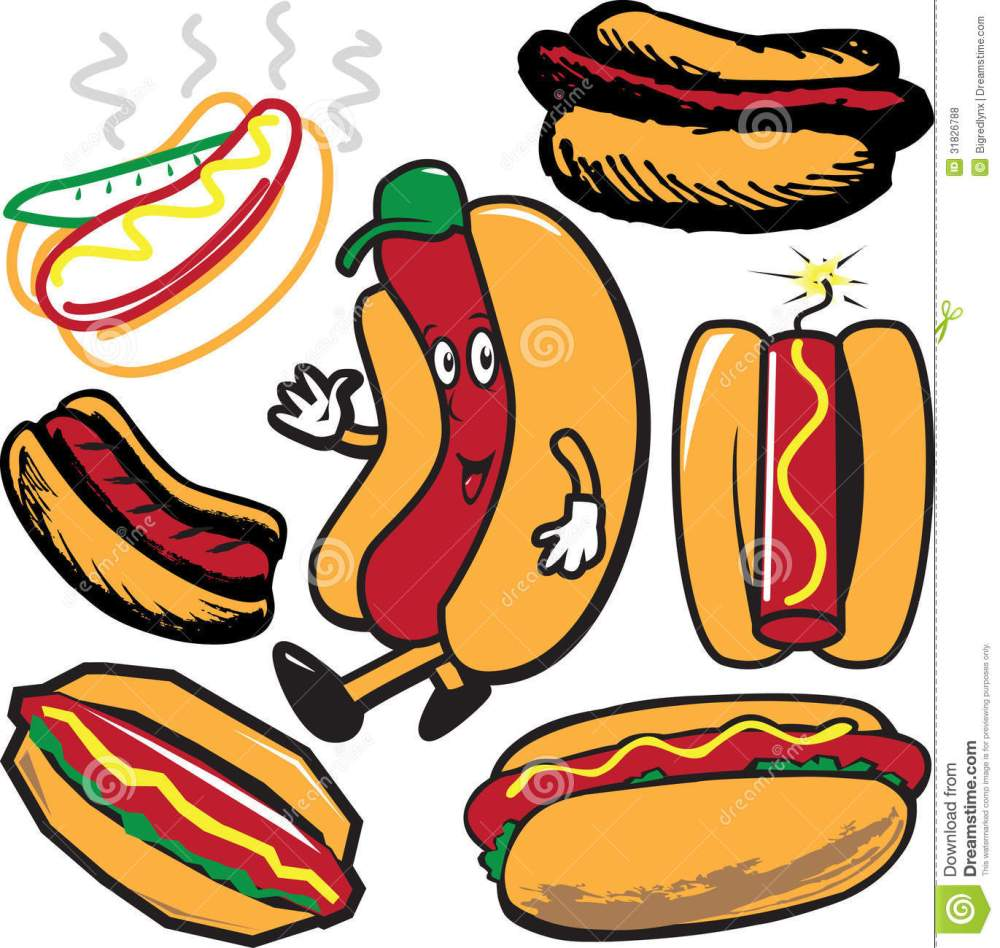 medium resolution of clip art collection of hot dog symbols and icons