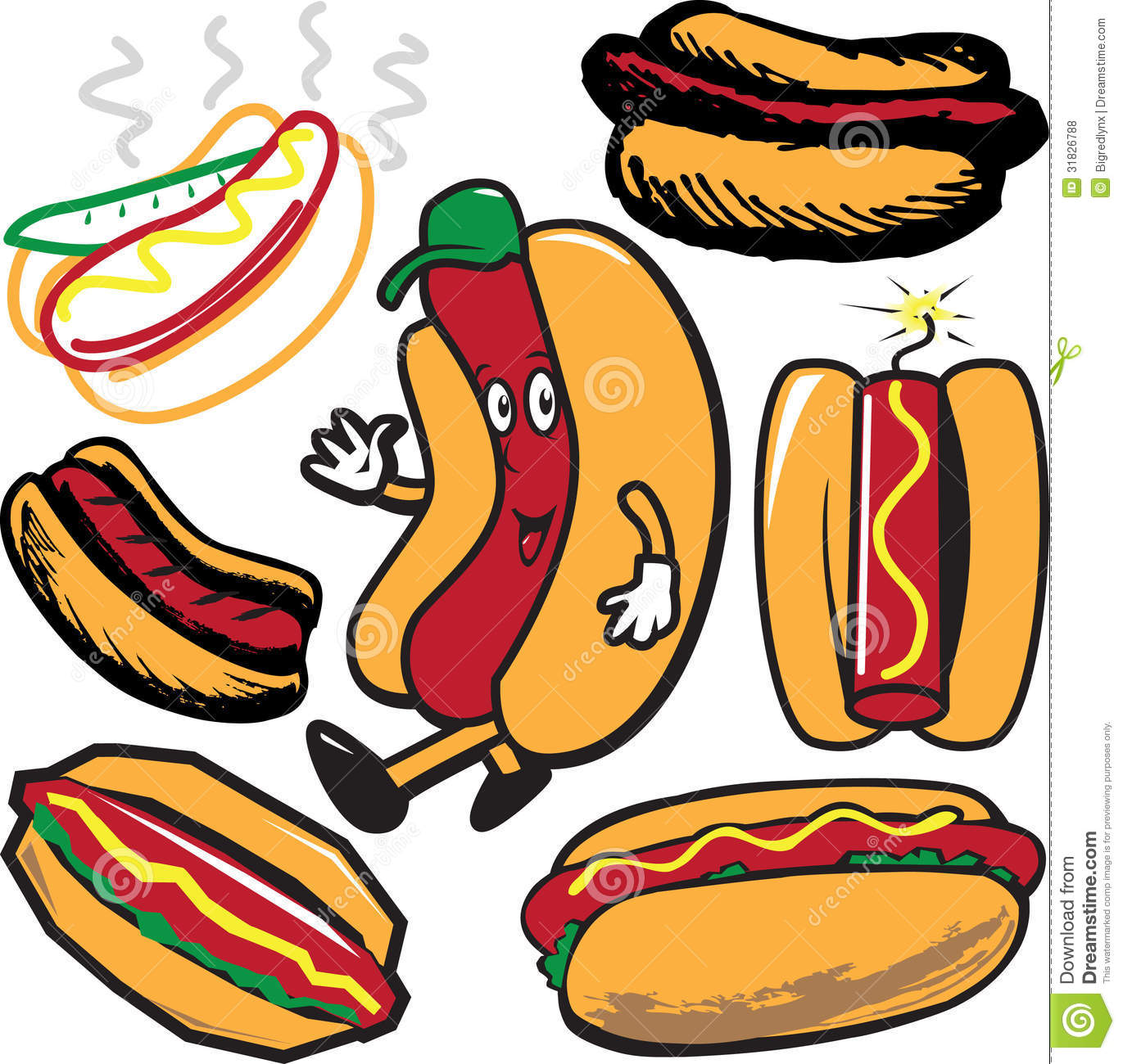 hight resolution of clip art collection of hot dog symbols and icons