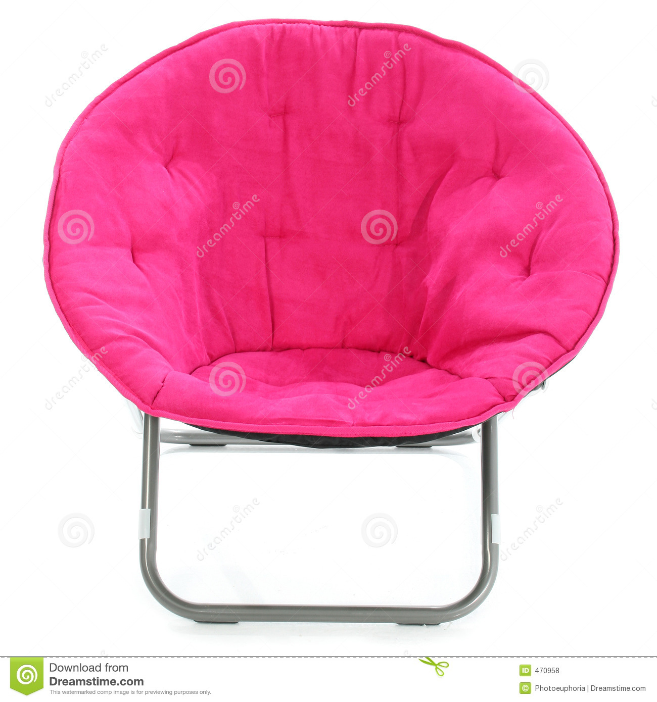 Pink Fluffy Chair Hot Pink Chair Over White Stock Photo Image Of Fabric