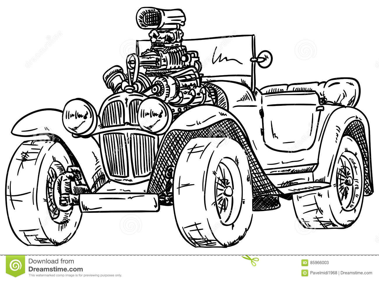 Streetrod Cartoons, Illustrations & Vector Stock Images