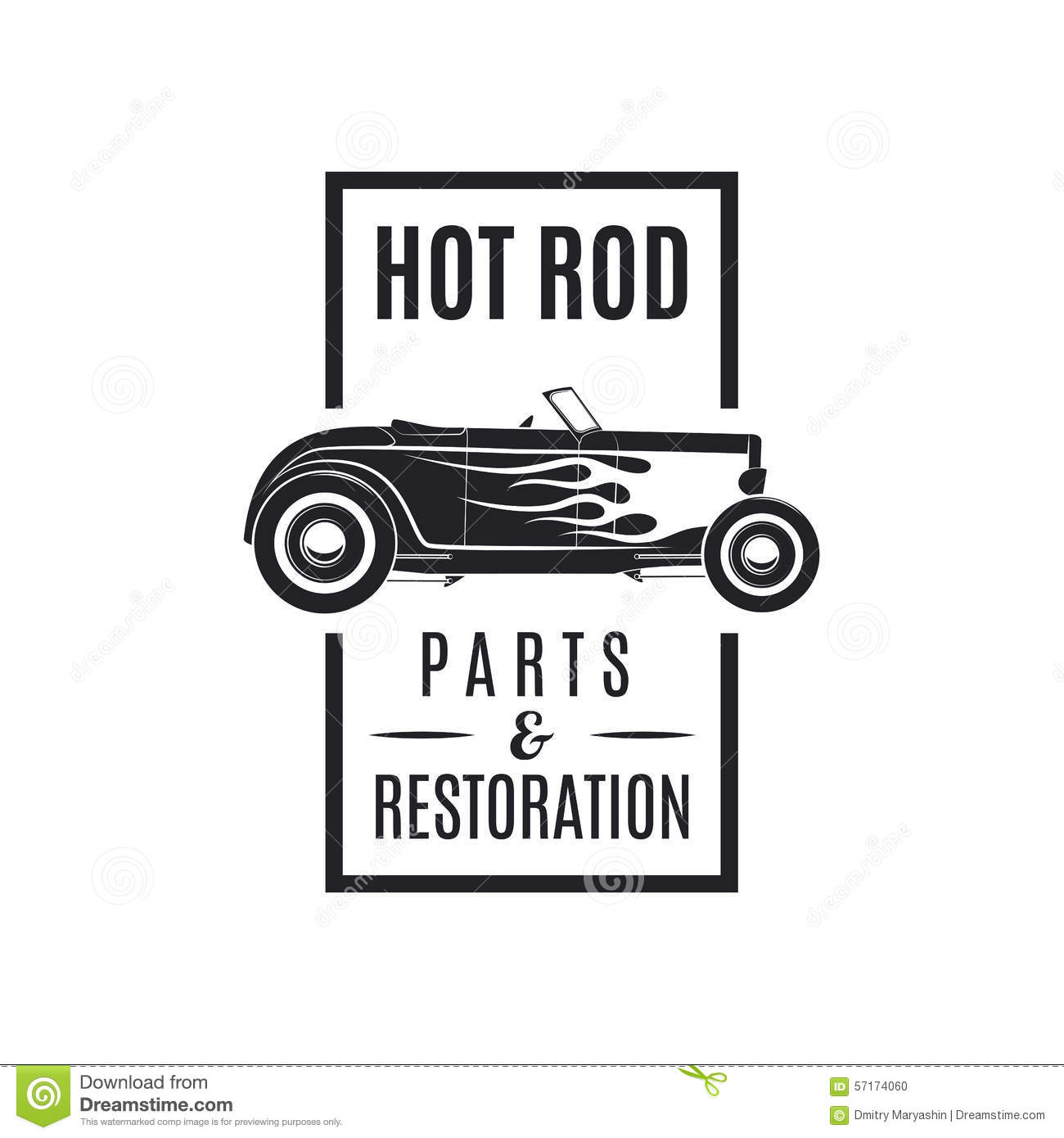 Hot Rod Icon Stock Vector