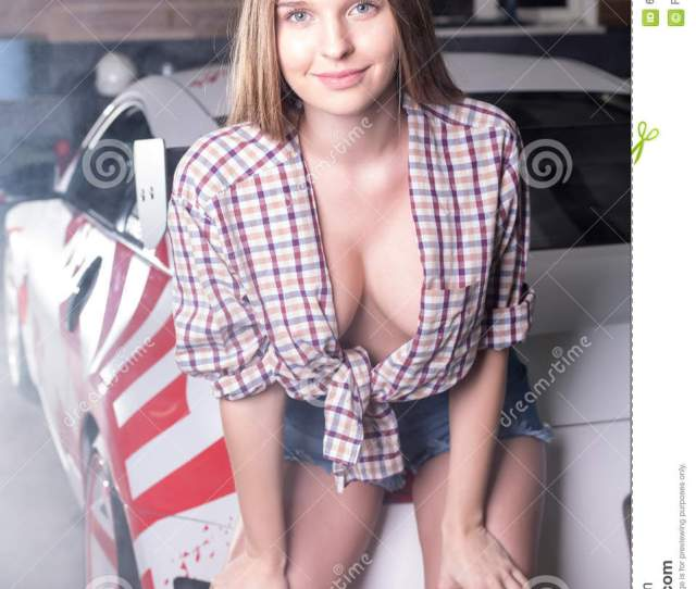 Hot Girl With Sport Car
