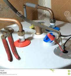 hot water heater installation stock image image of install metal electric hot water heater element [ 1300 x 955 Pixel ]