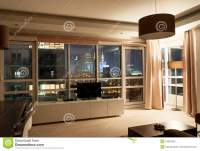 Hotel Apartment Room Night View Stock Photo - Image: 34634652