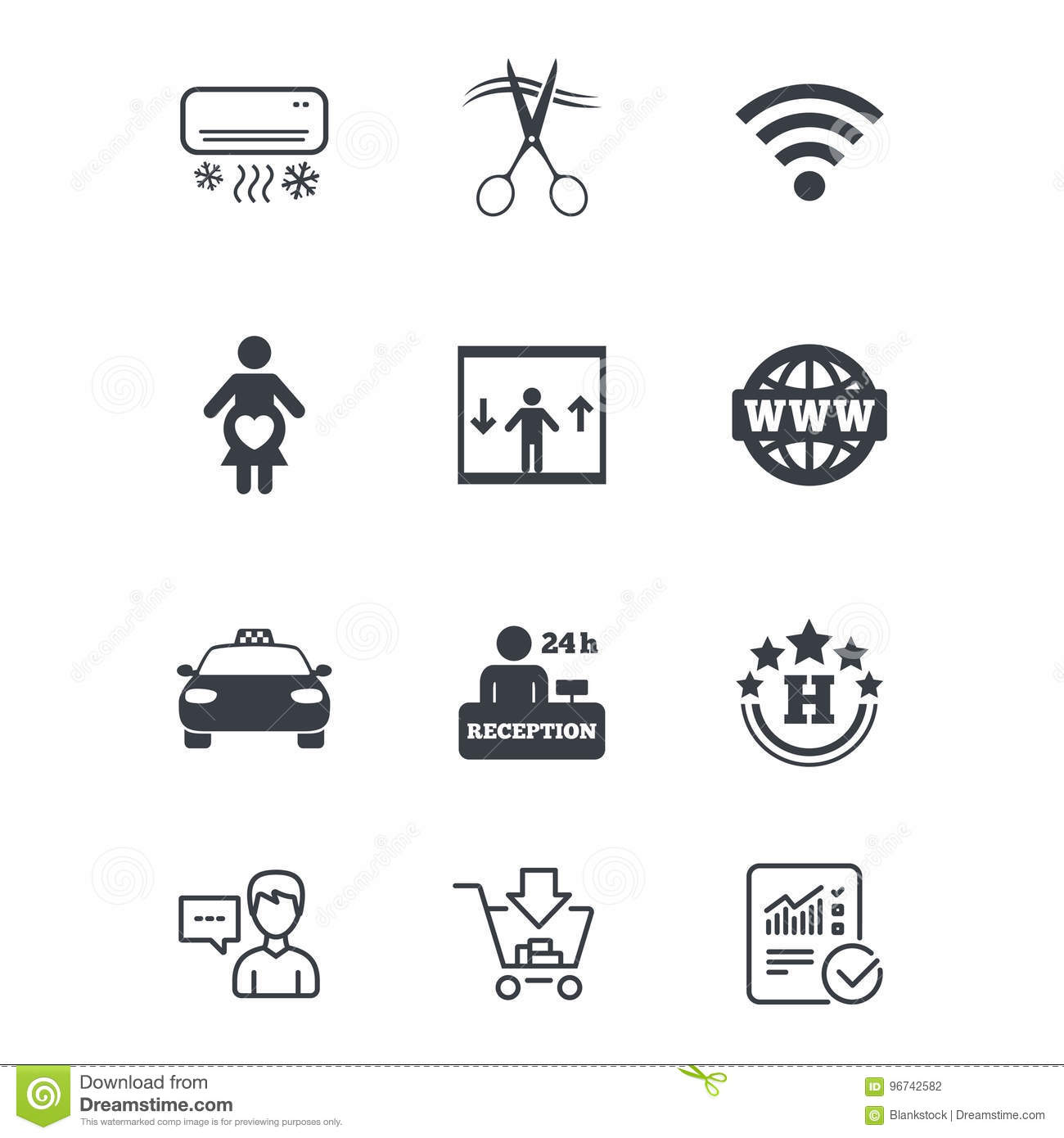 Car Air Conditioning Service Icons