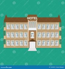 Hotel Icon Flat Style Vector Illustration Cartoondealer