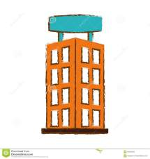 Hotel Building Icon Stock Illustration. Illustration Of
