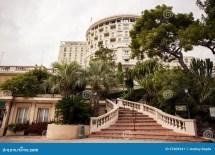 Hotel De Paris Exterior View In Monte Carlo Stock
