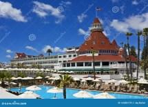 Hotel Del Coronado With Pool Stock - 14286179