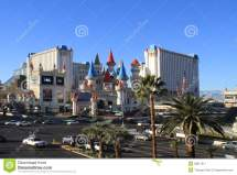 Usa Nevada Las Vegas Hotel Excalibur Editorial
