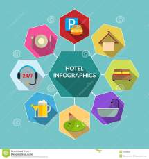 Hotel Flat Infographics Stock Vector - 44038387