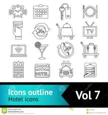 Hotel Icons Set Stock Vector. Of Parking