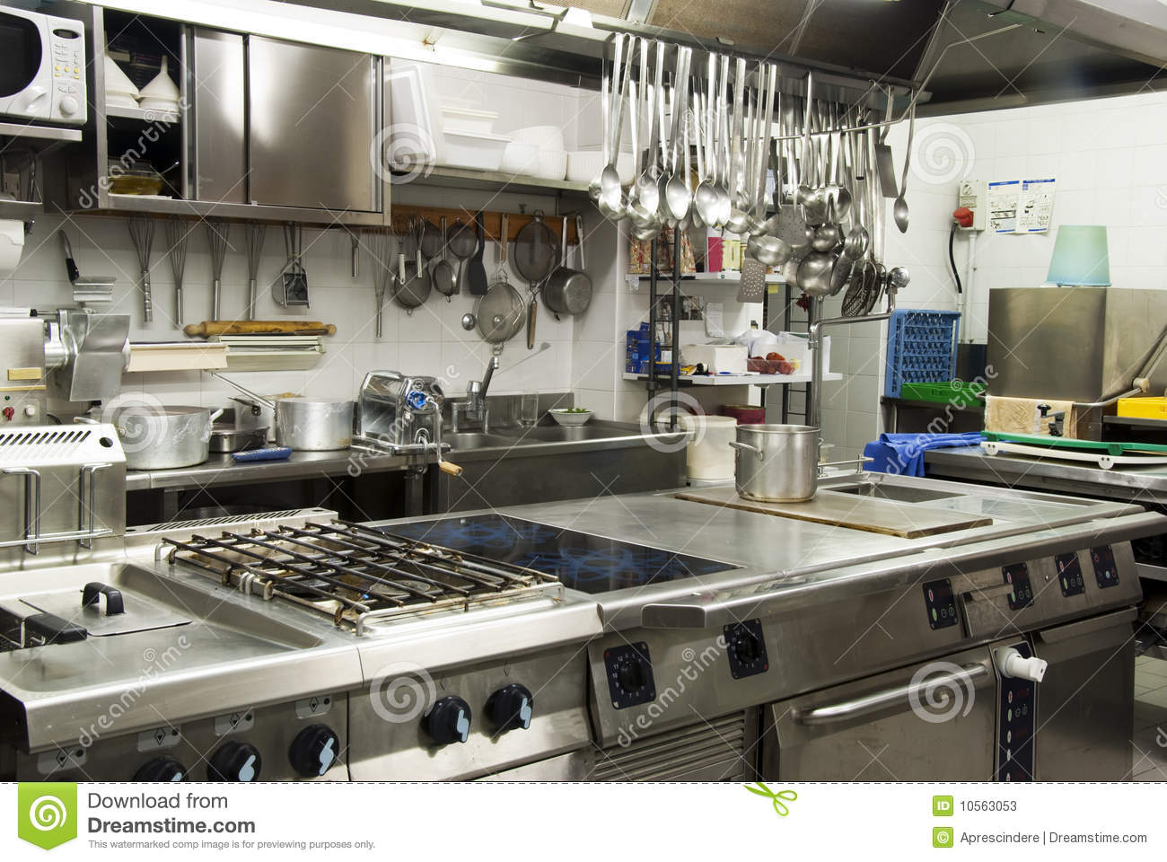 hotels with kitchen cheap rooster decor for hotel stock image of catering chrome 10563053 modern in a or restaurant