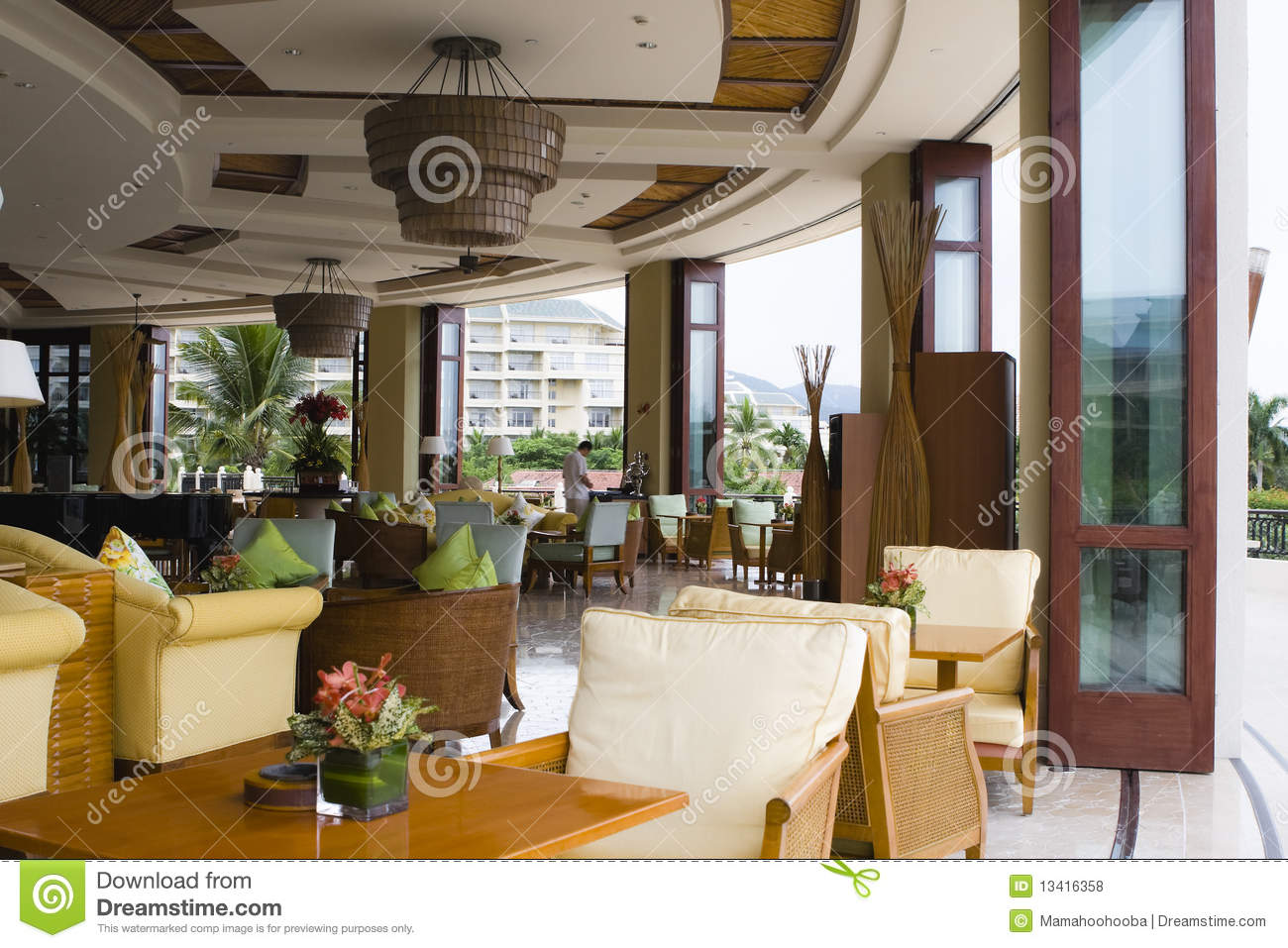 Hotel Lobby Coffee Shop And Bar Royalty Free Stock Photos