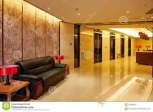 Hotel Lobby And Elevator Doors Furniture Stock