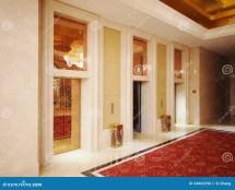 Hotel Lobby And Elevator Stock - 34663290