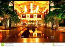 Hotel Lobby Night Royalty Free Stock