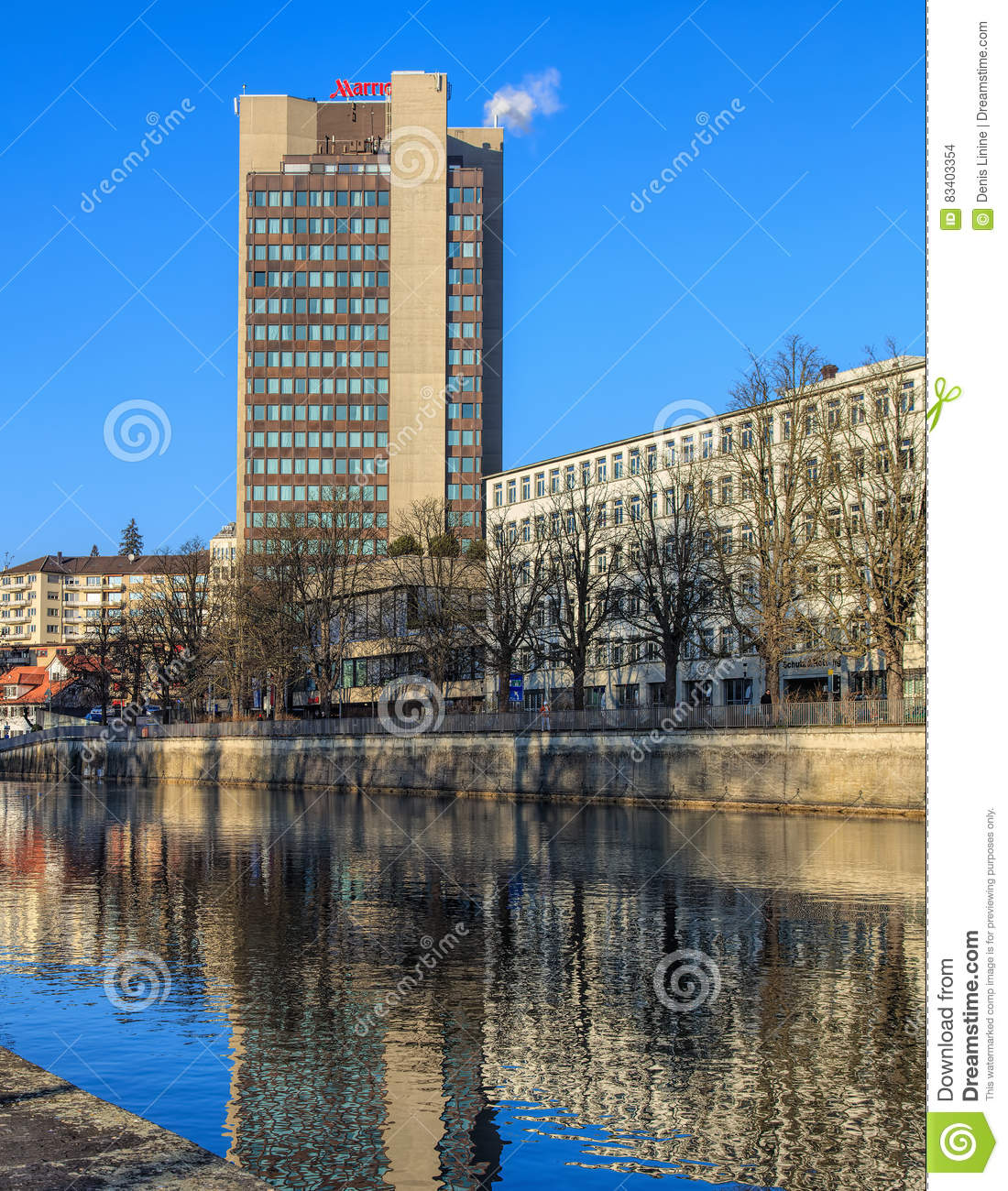 Hotel Marriott In Zurich Editorial Stock Image Image Of