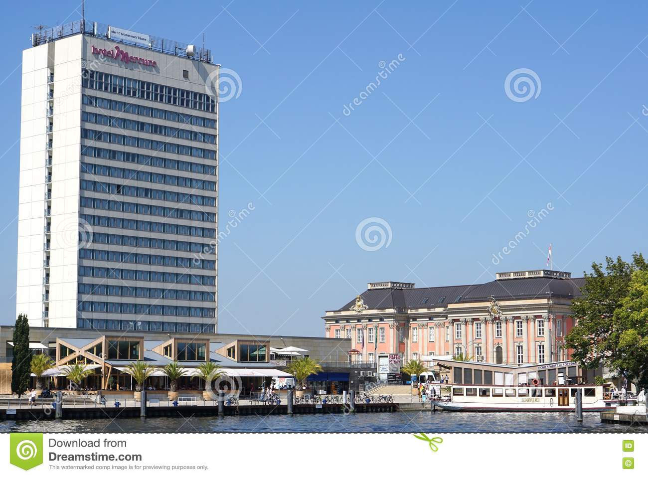 Hotel Mercure River Havel Potsdam Germany Editorial Image