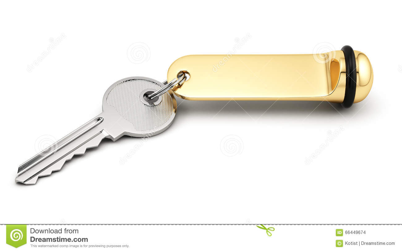 Hotel Room Key With Golden Lable Stock Illustration