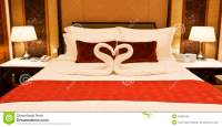 Hotel Room With Towel Forming Heart Shape Stock Image ...