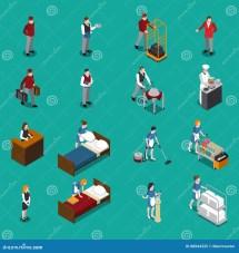 Hotel Staff Icons Vector Illustration
