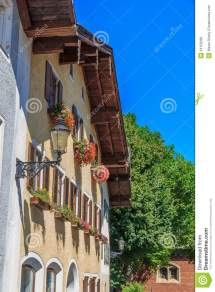 House In Alpine Mountains Bavaria Germany Royalty