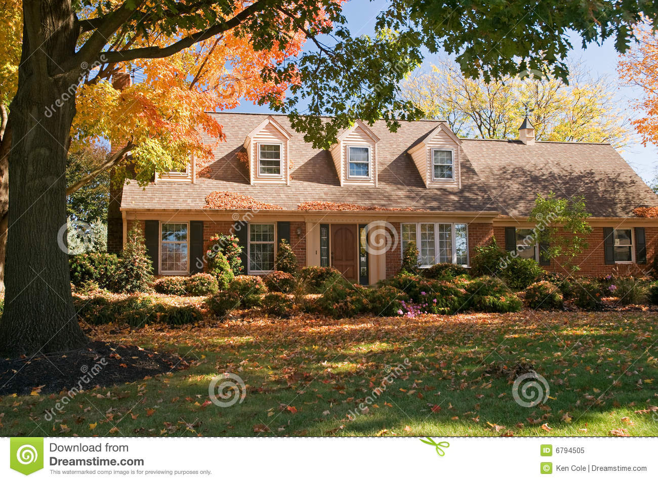 Fall Cape Cod Wallpaper House In Autumn Royalty Free Stock Photo Image 6794505