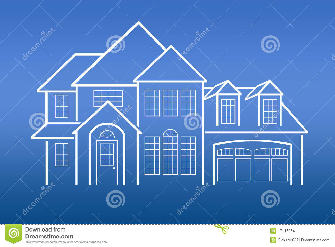 House Blue Prints stock photo Image of industry graphic