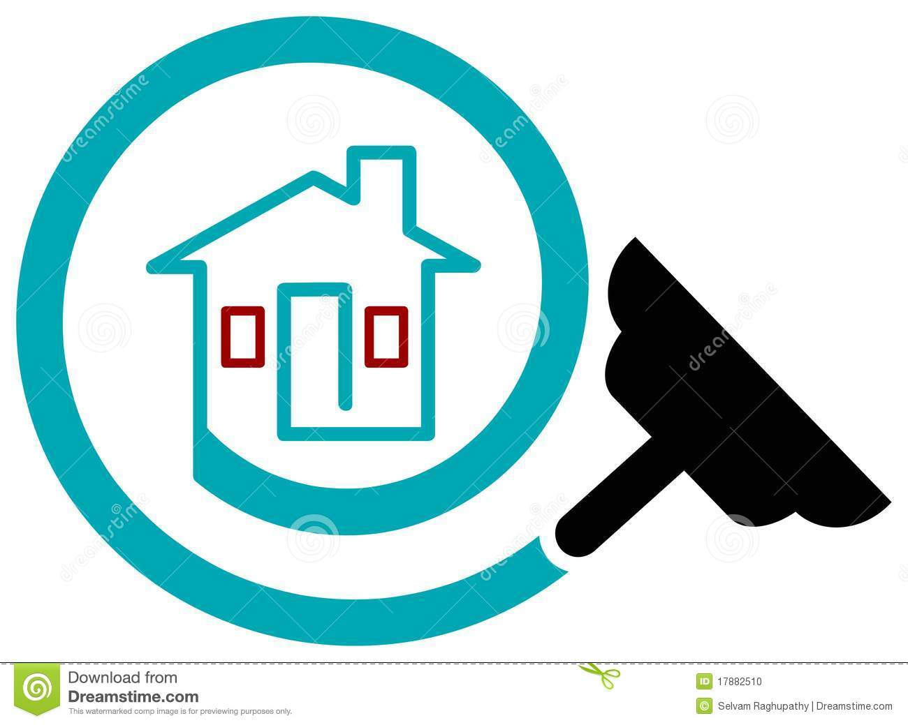 House Cleaning Logo Design House Design