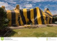 House Is Covered By Tent For Fumigation Stock Image ...