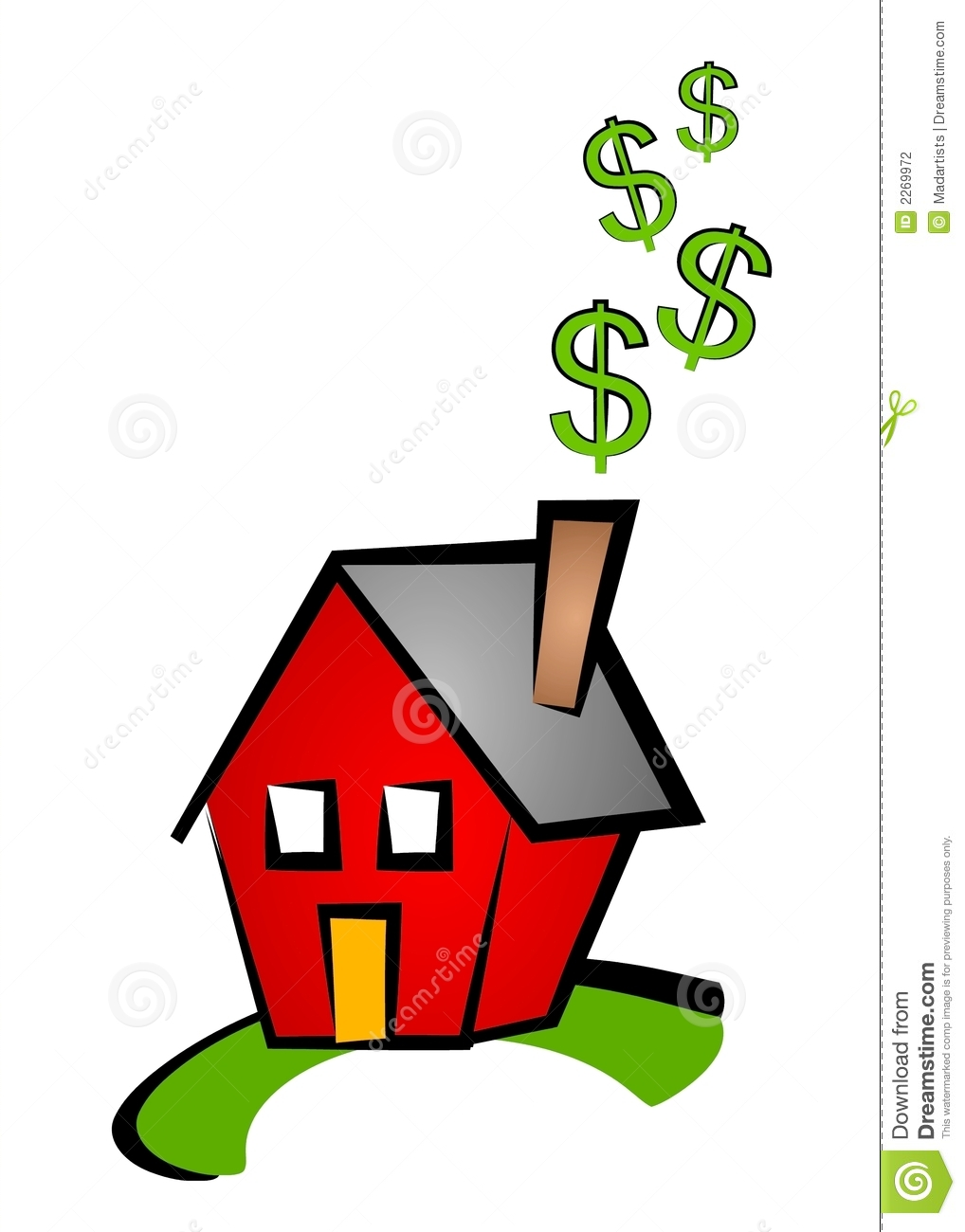 hight resolution of house dollar signs clip art