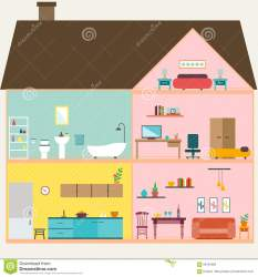 inside vector rooms illustration cartoon interior modern preview isometric