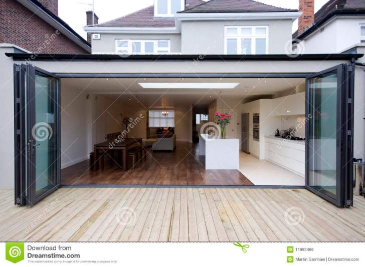 House Kitchen Extension Royalty Stock