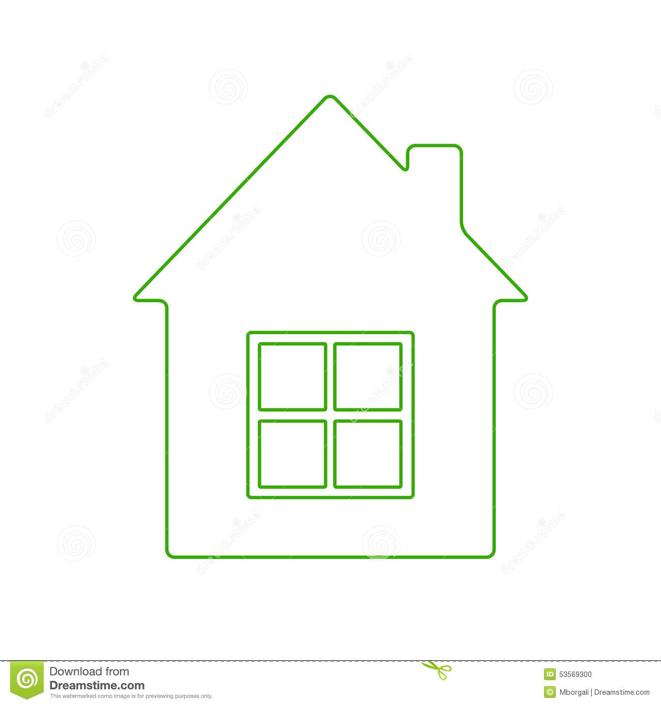 House Logo Stock Vector Illustration Of Dwelling Green