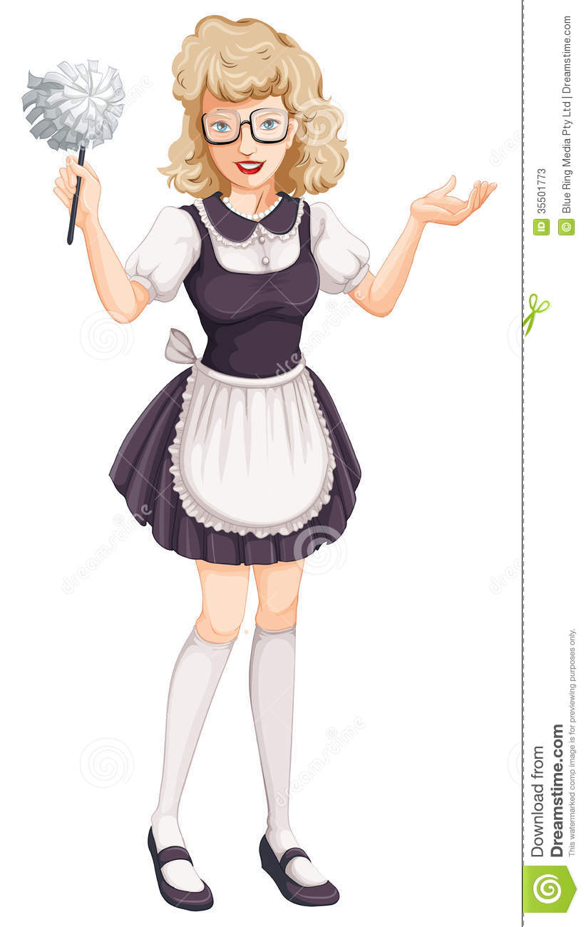 A House Maid Stock Vector Illustration Of Isolated