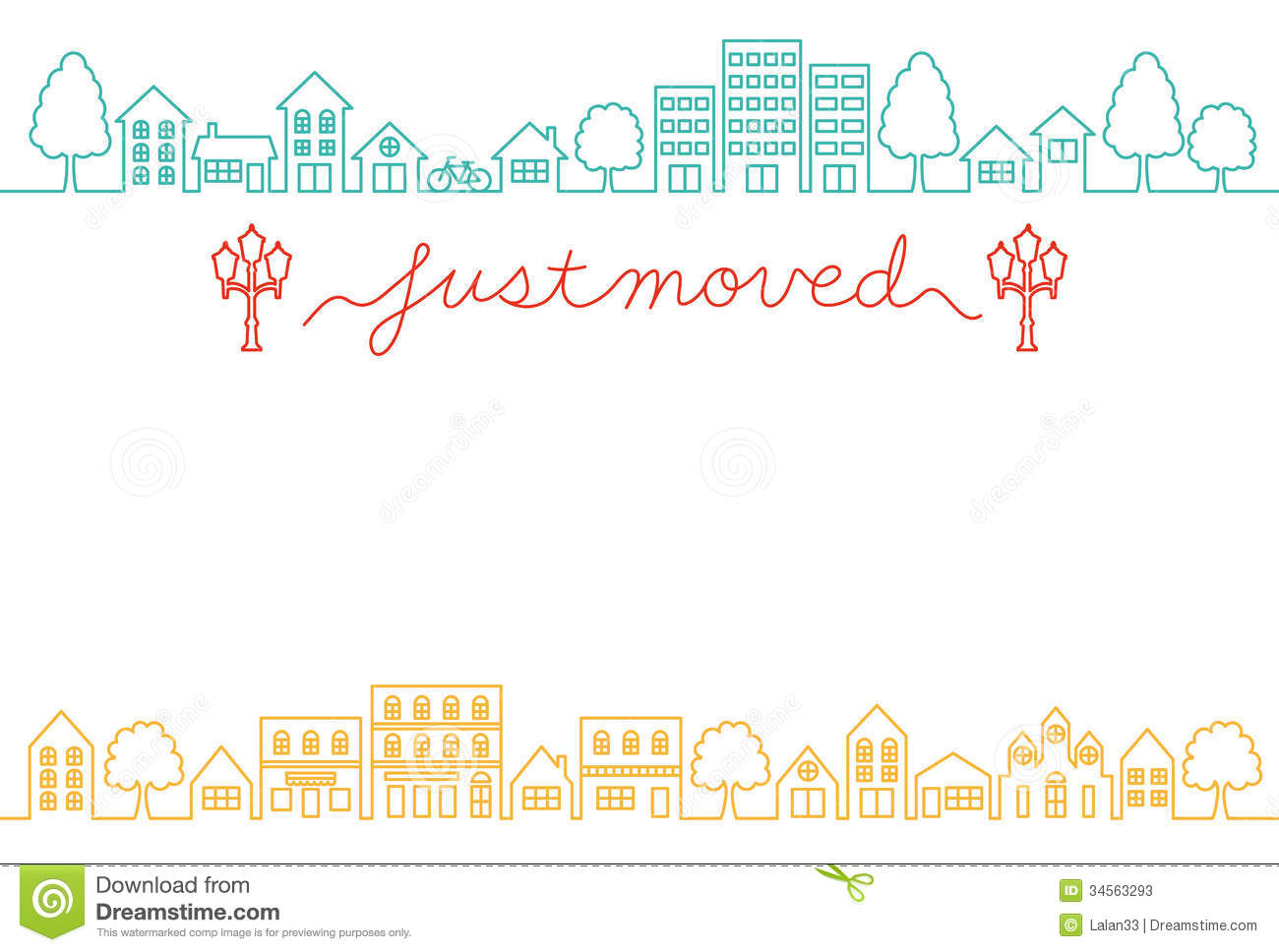 house moving greeting card